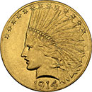 10 dollar Indian Gold American Coin
