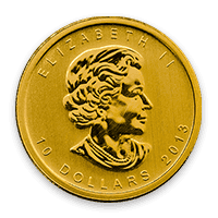 gold polar bear coin