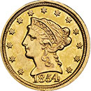 2.5 dollar Liberty Gold Coin