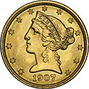 5 Dollar Liberty Gold Coin
