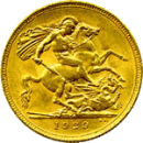 Back - British Sovereign Gold Coin