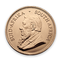 Back - Gold Krugerrand Coin