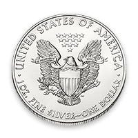 Coin Back Silver American Eagle