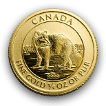 Photo: Gold Arctic Fox Coin Back
