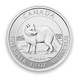 Photo: Silver Arctic Fox Coin Back