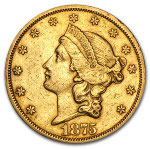 $20 Liberty Gold Double Eagle Type 2 (1866-1876)